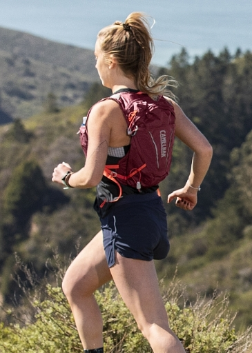 person running with pack