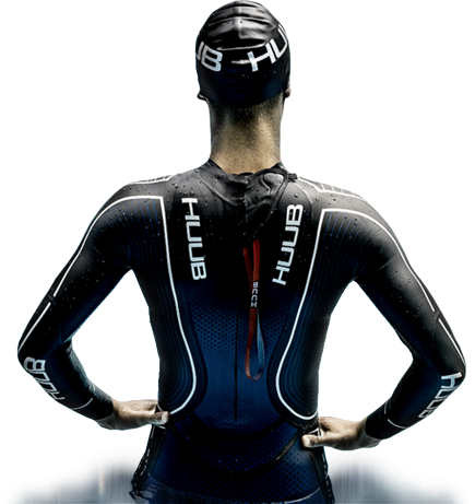 Swimmer with HUUB swimsuit