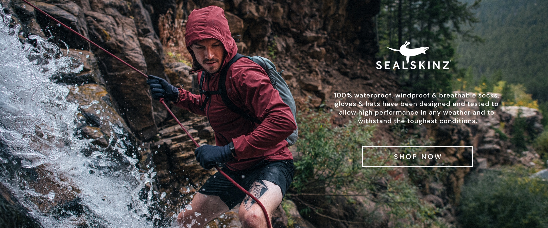 Sealskinz - Any activity, any weather - 100% waterproof, windproof & breathable socks, gloves & hats have been designed and tested to allow high performance in any weather and to withstand the toughest conditions. - Shop Now