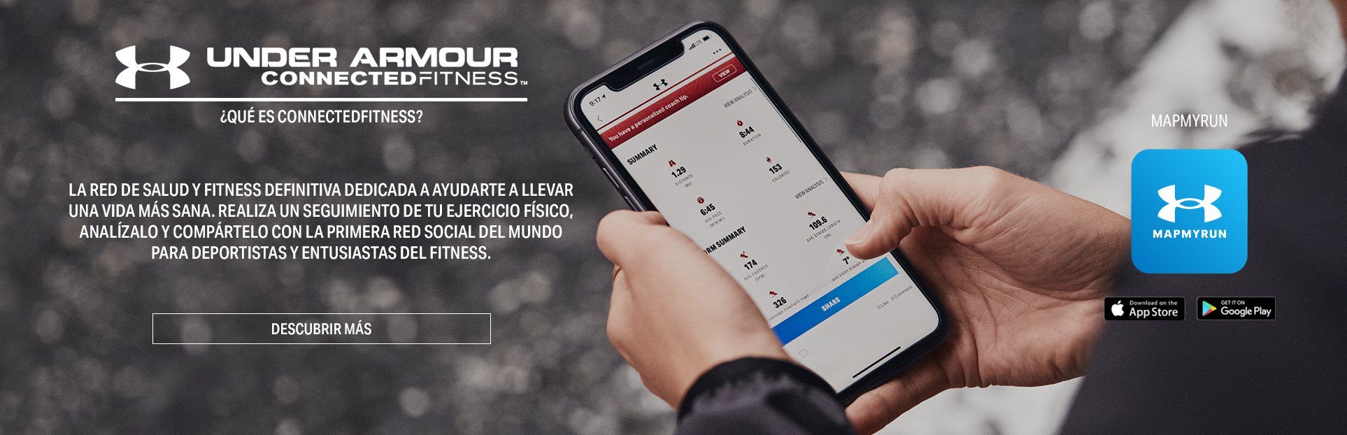 Under Armour Connected Fitness. what is Connective Fitness? the definite health and fitness network dedicated to helping you lead a healthier life. Track, analyse, and share your fitness activity with the world's first social network for athletes and fitness enthusiasts.